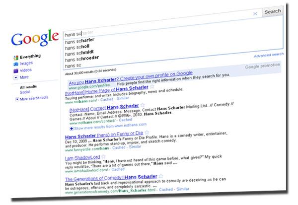 Hans Scharler Google Search Vain